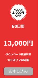 TOKYO-HOT(東京熱)の通常プラン90日間